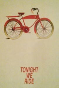 tonight we ride