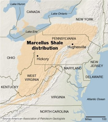 marcellus shale distribution