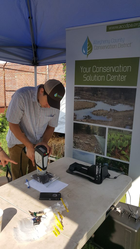 XRF Testing by Allegheny County Conservation District