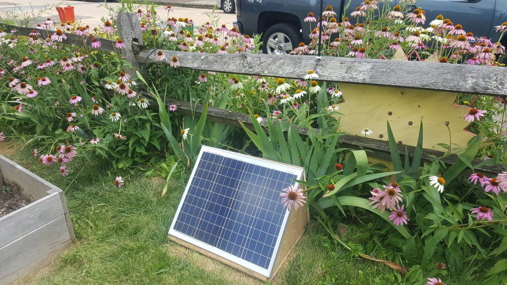 Solar WiFi hub at the Gardens of Millvale